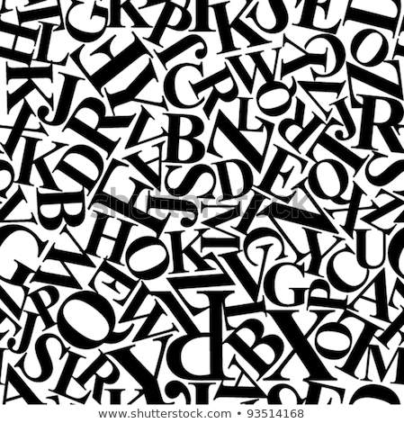 Сток-фото: Colorful Newspaper Letters Seamless Pattern