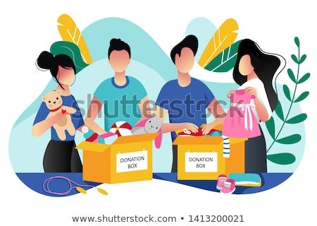 Schenken vak speelgoed witte speelgoed beer Stockfoto © fotoedu