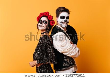 зомби макияж портрет девушки кровавый латекс Сток-фото © BigKnell