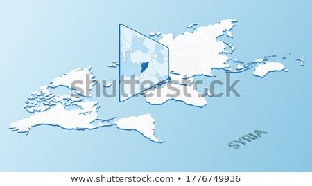 mapa · Síria · político · vários · abstrato · mundo - foto stock © tkacchuk