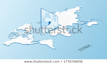 Isométrica mapa Síria detalhado isolado 3D Foto stock © tkacchuk