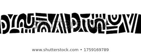 vector · sin · costura · resumen · blanco · negro · tribales · patrón - foto stock © lissantee