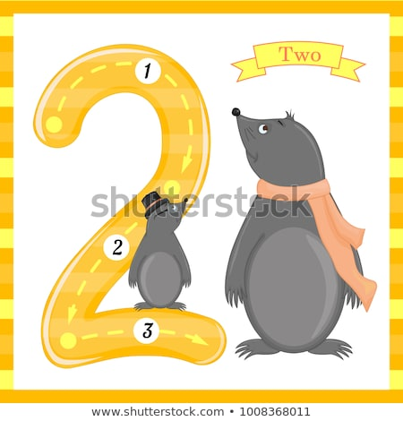 Flashcard number 0 with number and word Stock photo © bluering