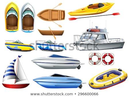 łodzi sportu tle sztuki łodzi połowów Zdjęcia stock © bluering