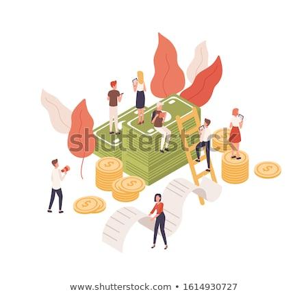 Budget calculator zonne woord display 3d illustration Stockfoto © idesign