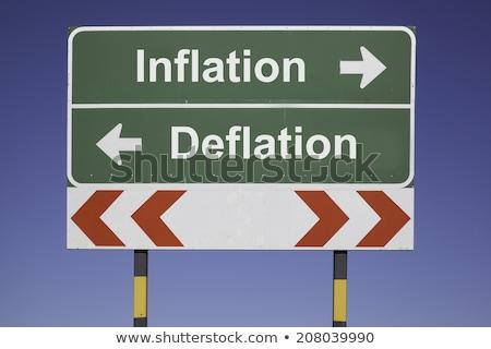 Direction inflation rouge vert néon noir Photo stock © blackmoon979
