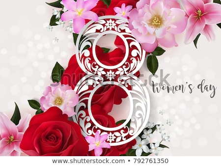 March 8 Women s Day greeting card. EPS 10 Stock photo © beholdereye