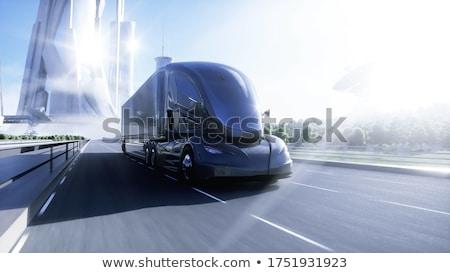 Elétrico transporte bateria combustível símbolo grupo Foto stock © Lightsource