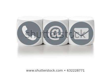 mektup · zarlar · beyaz · basın · haber · iletişim - stok fotoğraf © zerbor