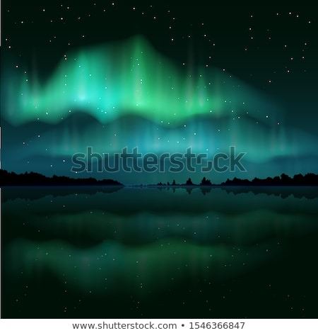 Green aurora light. Abstract vector backgrounds Stock photo © fresh_5265954