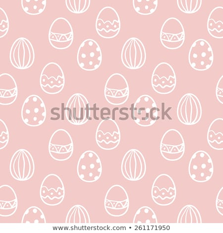 happy easter eggs seamless wrapper background stock photo © leonardi