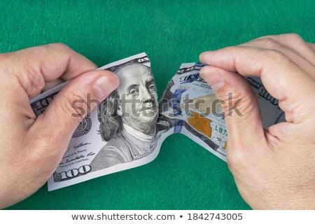 Americano dólar quadro regular um cem Foto stock © albund