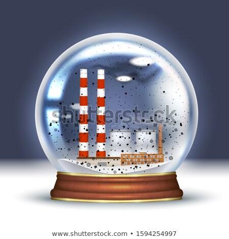 Smog ville neige monde pollution parfait Photo stock © albund