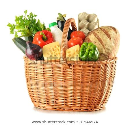 Rauw voedsel mand voedsel vruchten achtergrond Stockfoto © M-studio