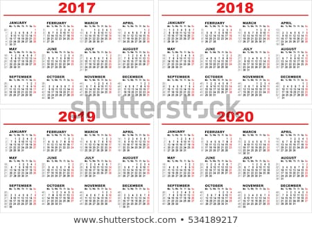 Set grid wall calendar for 2017, 2018, 2019, 2020 Stock photo © orensila