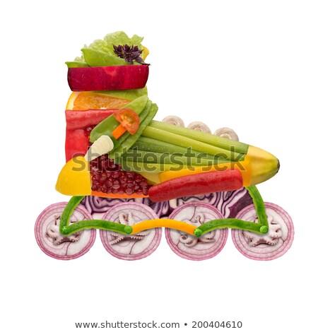 здоровое питание Skate свежие овощи полный Витамины изолированный Сток-фото © Fisher