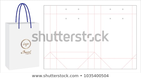 blank paper bag template stock photo © pakete