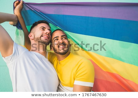 Portrait Of Homosexual Men Gay Pride And Lgbt Relationship Stock photo © diego_cervo