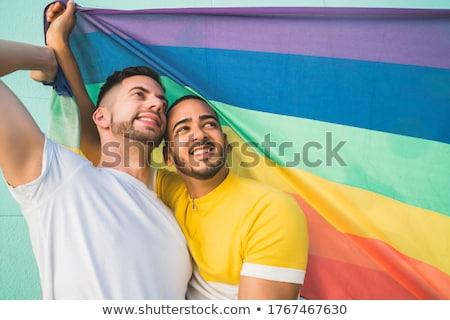 肖像 男性 ゲイ 誇り 関係 ストックフォト © diego_cervo