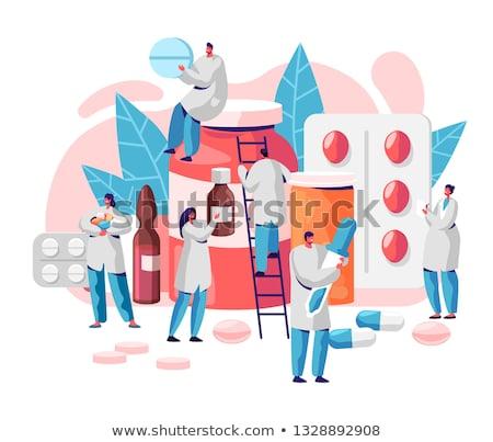Médico medicina vetor desenho animado ilustração papel Foto stock © NikoDzhi