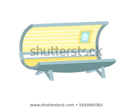 hot · ikona · szkła · niebieski · odizolowany · biały - zdjęcia stock © popaukropa
