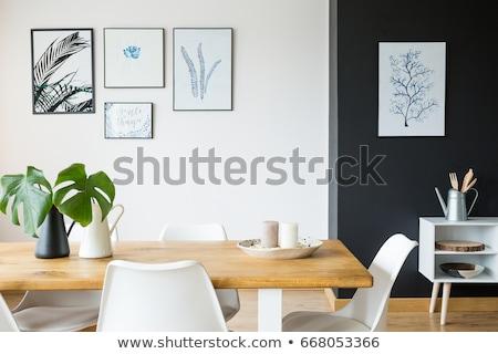 Víz kancsó fehér asztal bent kép Stock fotó © deandrobot