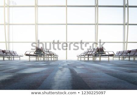 window in empty  airport Stock photo © ssuaphoto