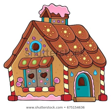ジンジャーブレッド 家 画像 屋根 図面 オブジェクト ストックフォト © clairev