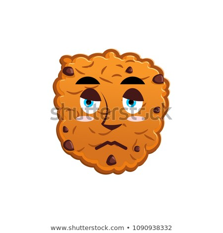 Cookies sad Emoji. biscuit emotion sorrowful. Food Isolated Stock photo © popaukropa
