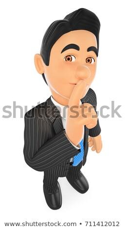 3D biznesmen palec ludzi biznesu ilustracja Zdjęcia stock © texelart