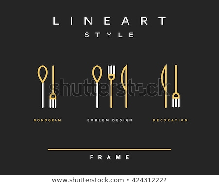 Cutlery black silhouettes Stock photo © biv