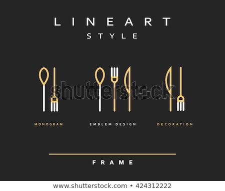 cutlery black silhouettes stock photo © biv