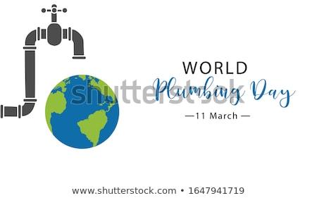 wereld · dag · grafisch · ontwerp · kalender · wenskaart · vakantie - stockfoto © olena