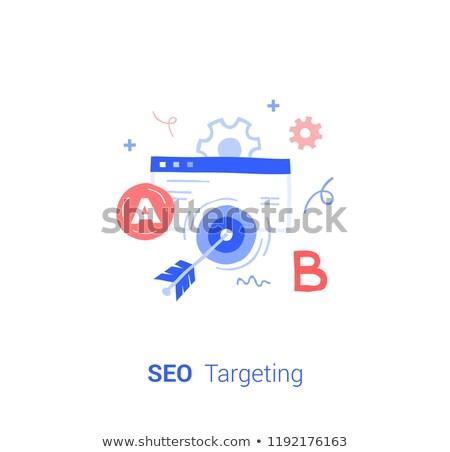 SEO Goal Setting Concept with Doodle Design Icons. Stock photo © tashatuvango