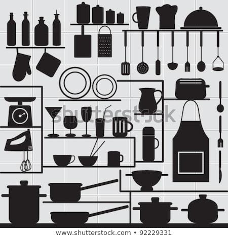 Set cucina sketch modelli baby Foto d'archivio © Olena