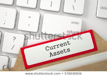 card index current assets 3d stock photo © tashatuvango