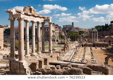 famous ruins of forum romanum stock photo © vwalakte