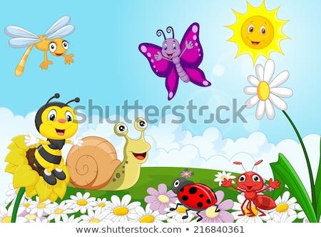 Sun Cartoon Mascot Cloud Background Stock photo © Krisdog