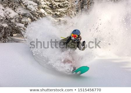kadın · güzel · genç · gülümseyen · kadın · snowboard - stok fotoğraf © is2