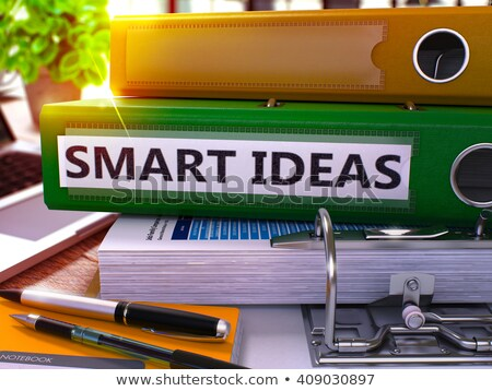 Green Ring Binder with Inscription Smart Ideas. Stock photo © tashatuvango
