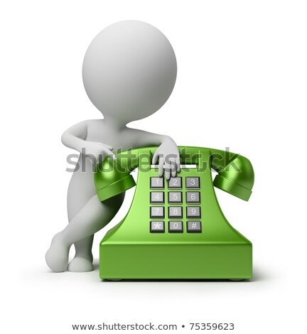 3d small people   call by telephone stock photo © anatolym