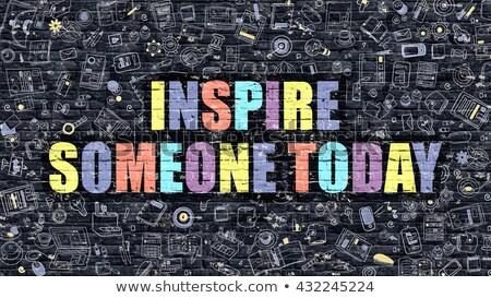 Inspirar alguém hoje escuro moderno ilustração Foto stock © tashatuvango