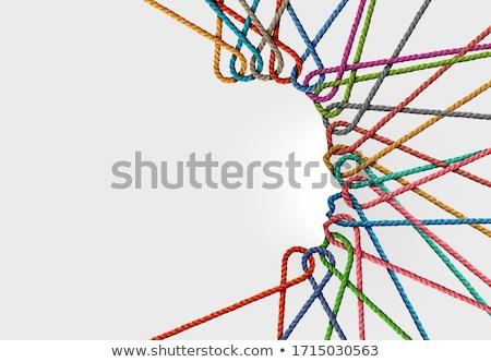 Criatividade conteúdo estilista símbolo pessoa lápis de cor Foto stock © Lightsource