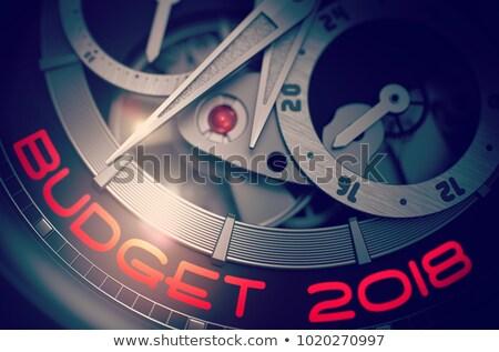 Költségvetést készít férfiak óra mechanizmus 3D divat Stock fotó © tashatuvango