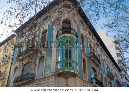 Ornate building Facade, Xativa, Spain Facade, Xativa, Spain Stock photo © smartin69