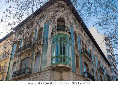 Valencia · porta · ív · épület · művészet · vakáció - stock fotó © smartin69