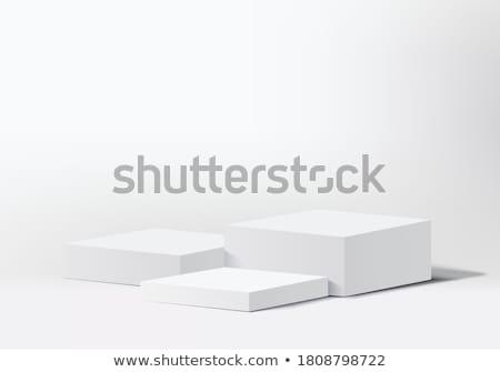white and gray cylinder podium 3 stock photo © oakozhan