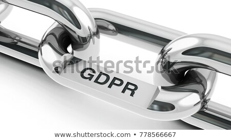 Chain with GDPR link  Stock photo © Oakozhan