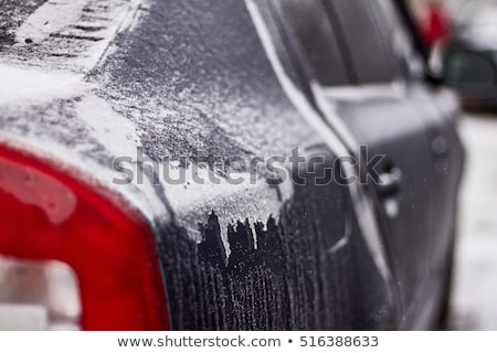 red car covered with snow stock photo © andreypopov