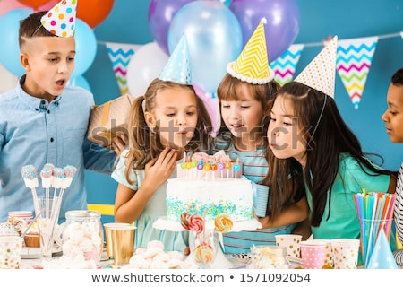 кавказский детей именинный торт подарки мало счастливым Сток-фото © RAStudio